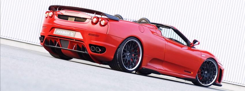 Voiture de course rouge luxe ferrari couverture facebook - Photo voiture de course ferrari ...