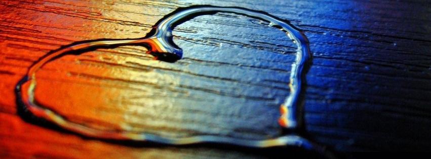 coeur en eau, couverture facebook, facebook cover