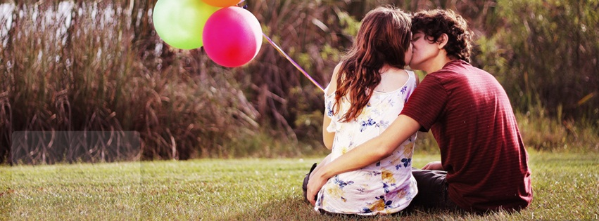 couple, mignon, cute, romantique, ballons, couverture facebook, facebook cover