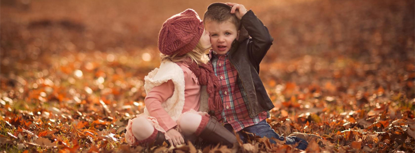 couple de bebes, trop mignons, cute, automne, couverture facebook, facebook cover