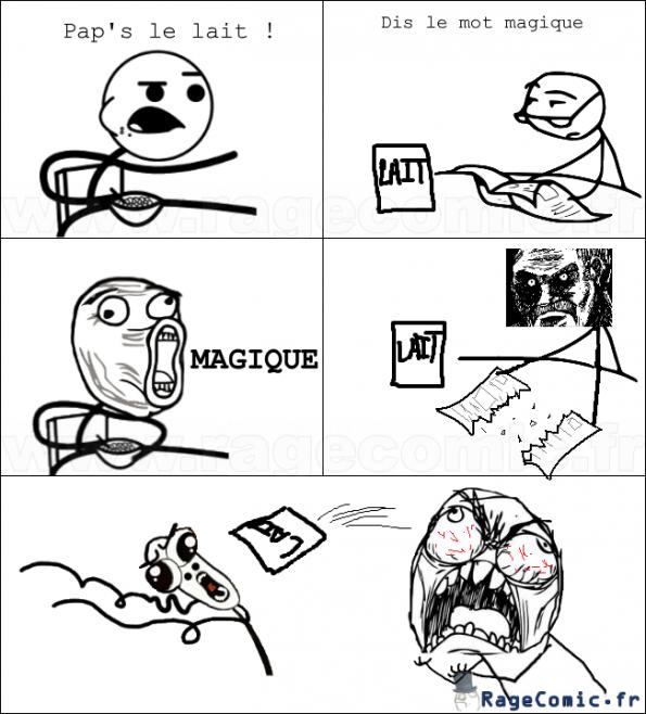 Comic bd meme troll papa lait mot magique image gif anim 233
