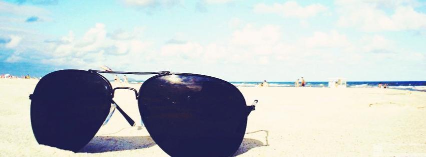 lunettes de soleil, sunglasses, plage, beach, ete, summer, vacances, couverture facebook, facebook cover